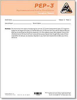 PEP-3 Caregiver Report Forms (10) FORMS <span style=