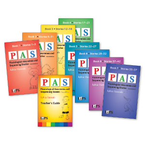 Phonological Awareness and Sequencing Stories (PAS) – Second Edition, Set of 8 Books