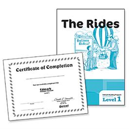 Edmark Reading Program: Level 1 – Second Edition, The Rides and Certificates of Completion