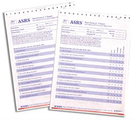 ASRS: Autism Spectrum Rating Scale Ages 2 to 5 Years Short Parent and Teacher/Childcare Provider Quickscore Forms (25)