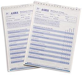 ASRS: Autism Spectrum Rating Scale Ages 6 to 18 Years Short Parent and Teacher Quickscore Forms (25)