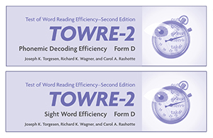 TOWRE-2 Form D Word Cards