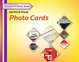 Edmark Reading Program Functional Words Series – Second Edition: Job/Work Words, Photo Cards