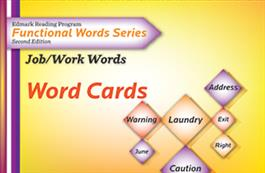 Edmark Reading Program Functional Words Series – Second Edition: Job/Work Words, Word Cards