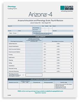 Arizona-4 Phonology Coding Form (25)