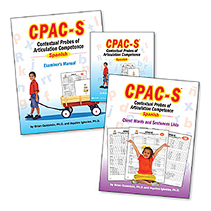 CPAC-S: Contextual Probes of Articulation Competence – Spanish Test Only Kit