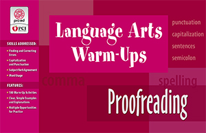 Language Arts Warm-Ups: Proofreading