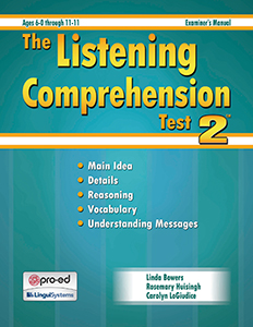 LCT-2: Listening Comprehension Test 2