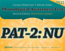 Phonological Awareness Test–Second Edition: Normative Update (PAT-2: NU)