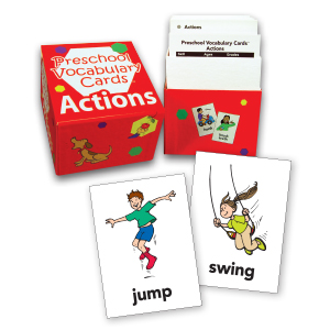 Preschool Vocabulary Cards: Actions