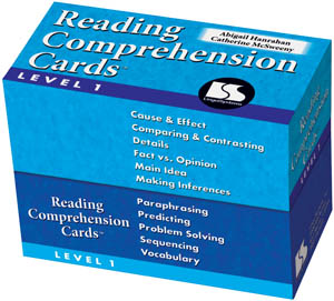 Reading Comprehension Cards Level 1