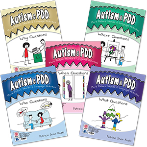 Autism & PDD More Picture Stories & Language Activities: 5-Program Set