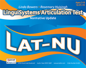 LAT-NU: LinguiSystems Articulation Test–Normative Update