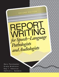 Audiology and Speech Pathology write professionally